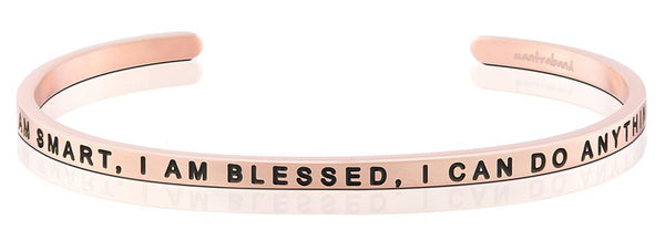 I Am Smart, I Am Blessed, I Can Do Anything rose gold bracelet - MantraBand