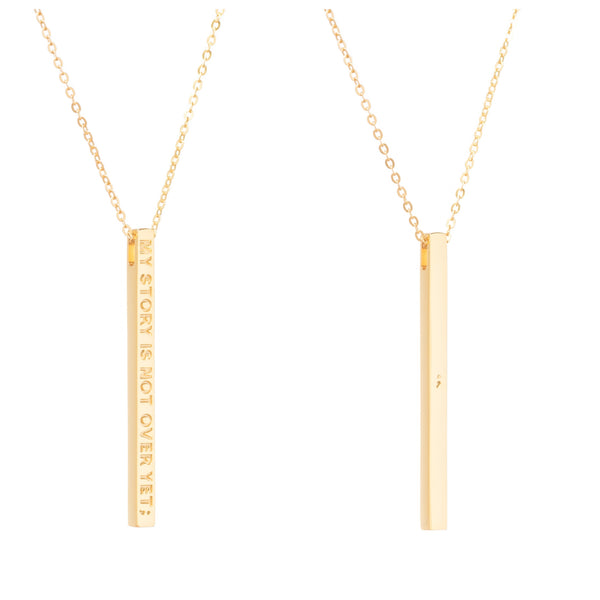 Gold My Story Is Not Over Yet Necklace - MantraBand