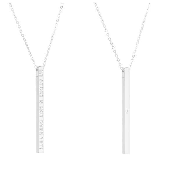 Silver My Story Is Not Over Yet Necklace - MantraBand