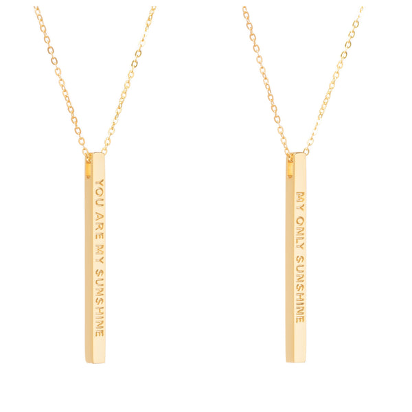 Gold You Are My Sunshine Necklace - MantraBand