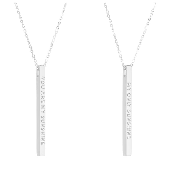 Silver You Are My Sunshine Necklace - MantraBand