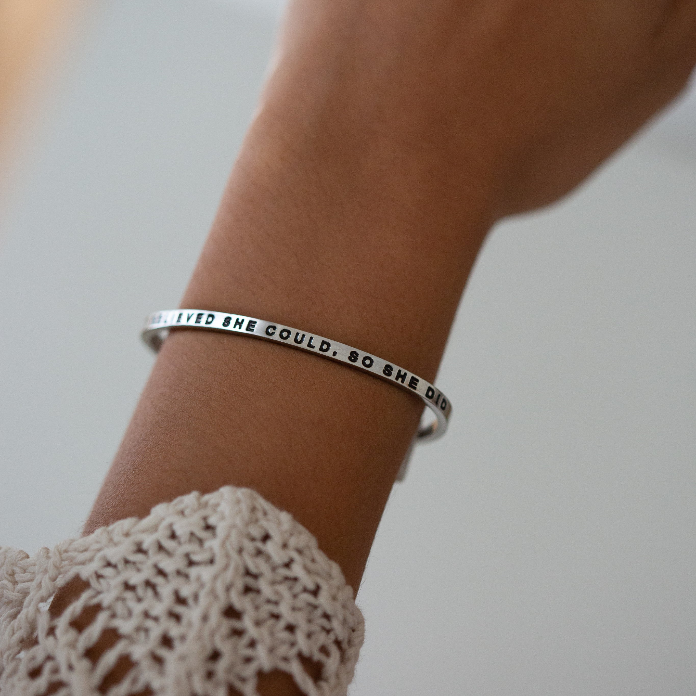 So She Danced. Engraved Bracelet The Moon Called To Her