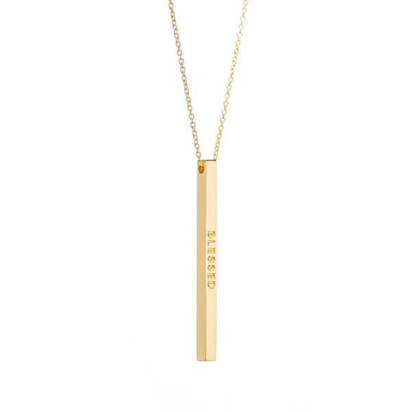 Gold Blessed Necklace - MantraBand