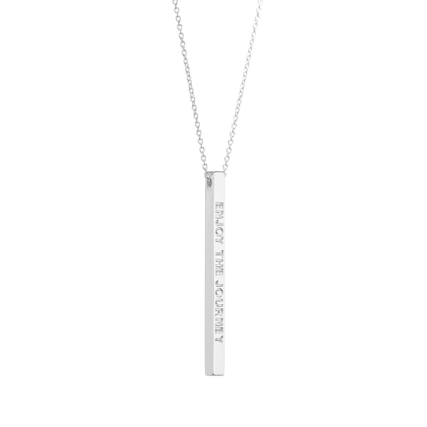 Silver Enjoy The Journey Necklace - MantraBand
