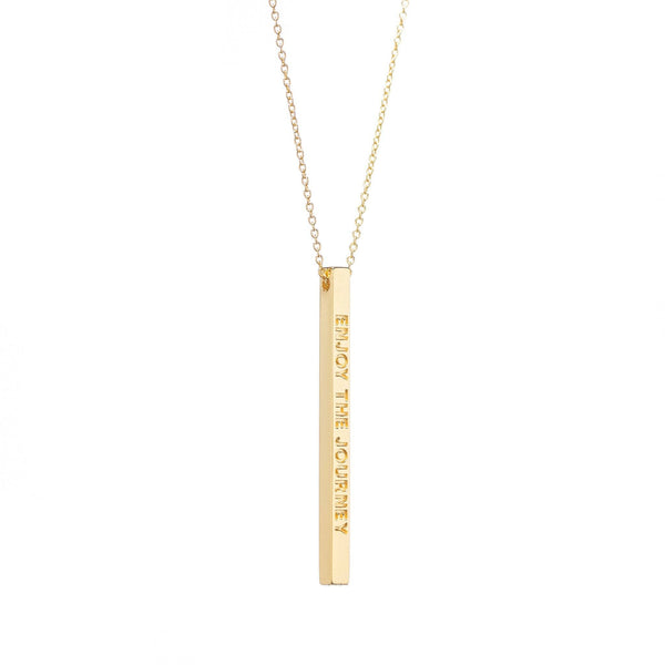 Gold Enjoy The Journey Necklace - MantraBand