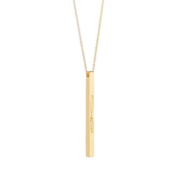 Gold Infinite Love Necklace - MantraBand