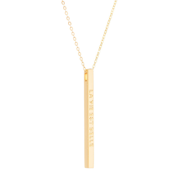 Gold La Vie Est Belle Necklace - MantraBand