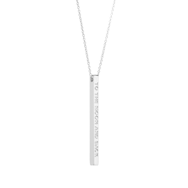 Silver To The Moon and Back Necklace - MantraBand