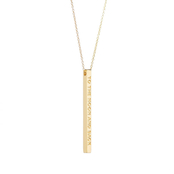 Gold To The Moon and Back Necklace - MantraBand