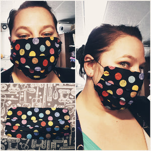 Face Mask ADULT, Pleated Style