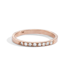 blanca monrós gómez | 14k white diamond band