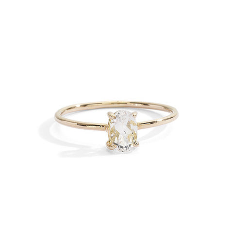 morganite stacking ring