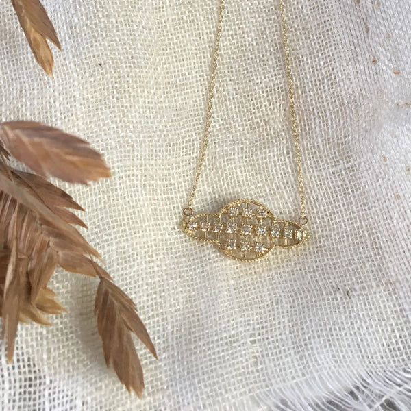 HOLIDAY EXCLUSIVE - gold filigree necklace