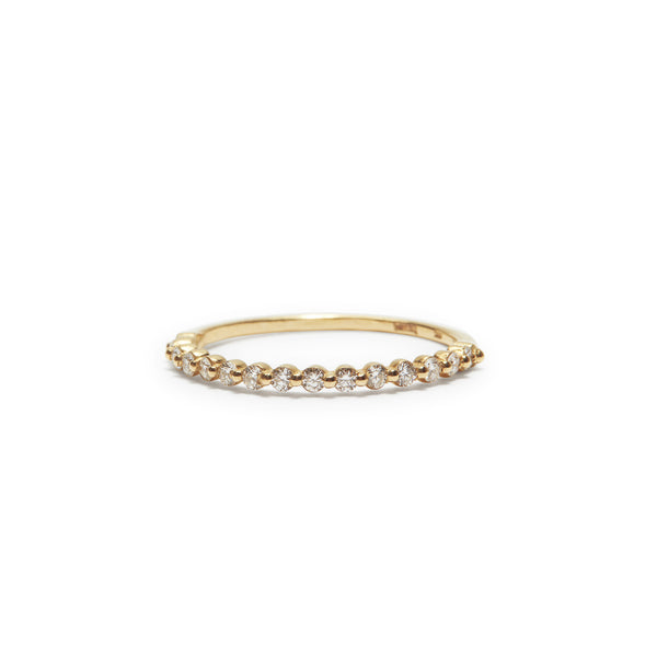 adeline white diamond band- rose gold