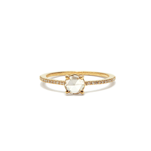 charlotte white diamond solitaire ring