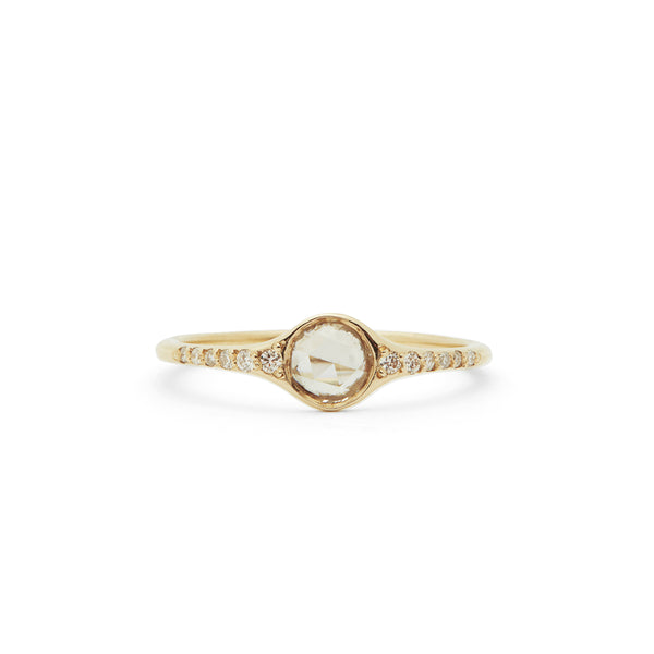florence solitaire medium ring