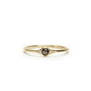 florence little black diamond solitaire ring
