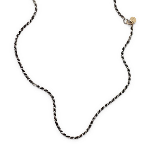 short silver rope necklace