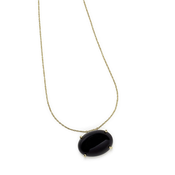 black onyx augusta necklace
