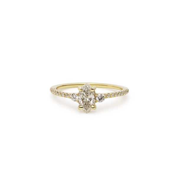 coralie marquise diamond solitaire