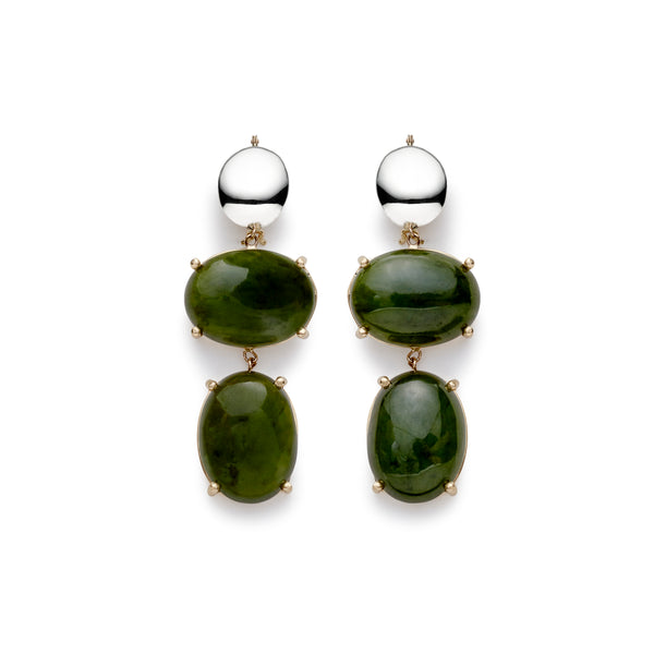 augusta double drop earrings