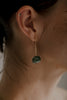 cabochon emerald bezel stud -  single