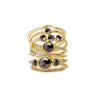 black diamond florence trio ring