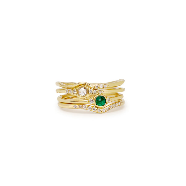 florence little emerald solitaire ring