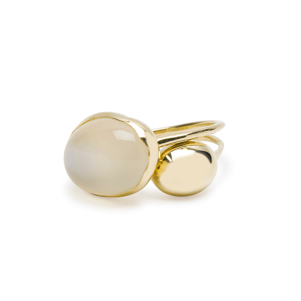 claudel moonstone ring