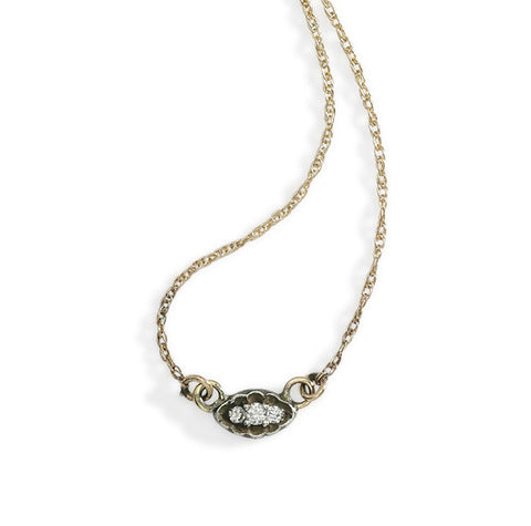 oval filigree necklace