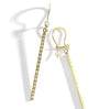 dainty long diamond earrings