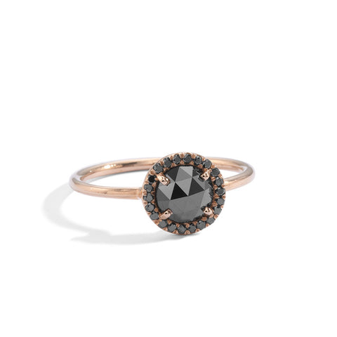 black diamond large aura solitaire