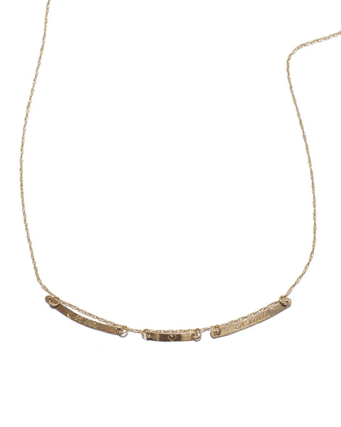 three bar emile necklace