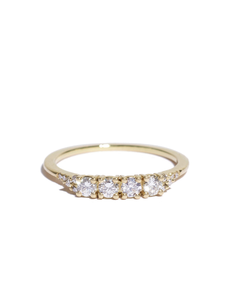 white diamond ophelia ring