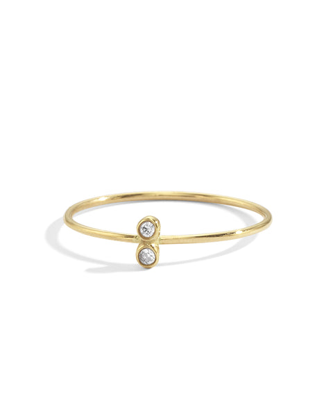 double diamond seed ring