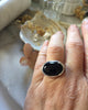 darcy ring in sterling silver with black onyx size 6