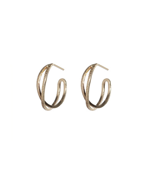 small camille matte hoops