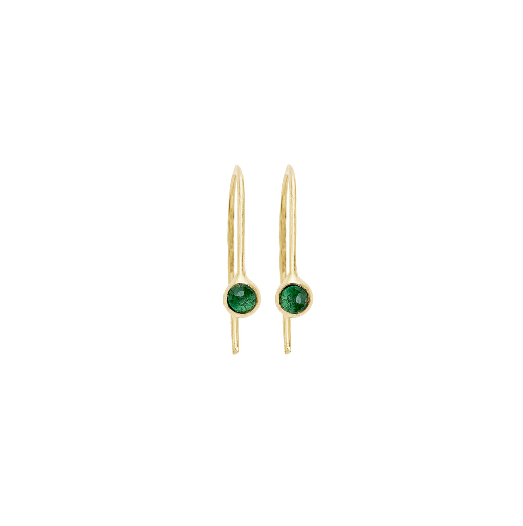 mabel emerald drop earrings