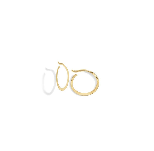 tiny hammered hoops