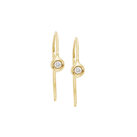 diamond seed droplet earrings