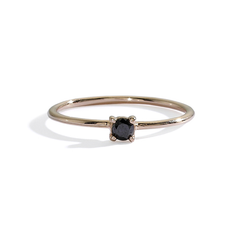 blanca monrós gómez | little prong black diamond solitaire