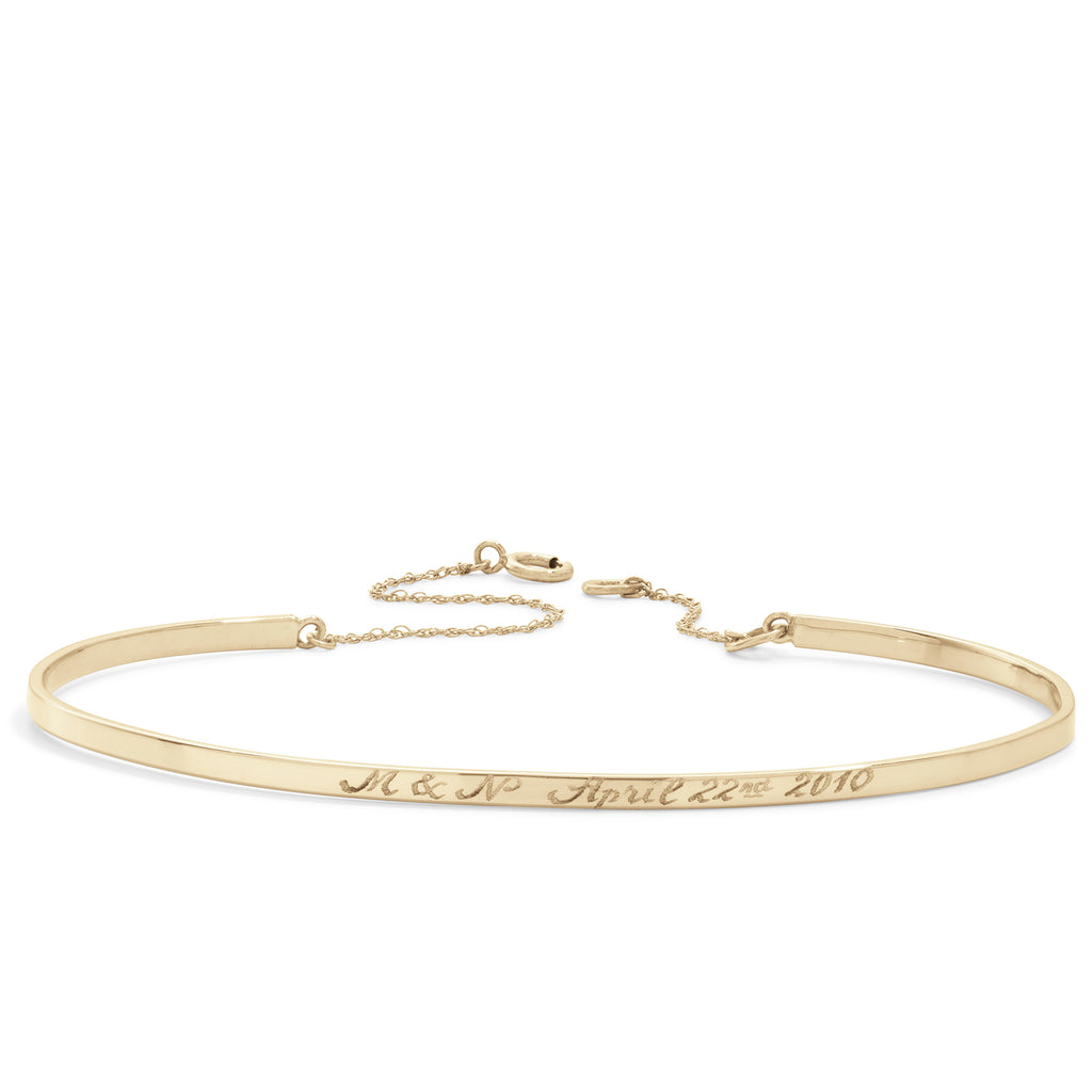bangle with chain