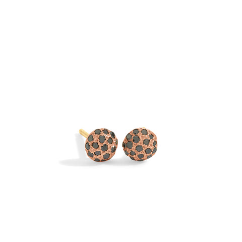 black diamond dot earrings