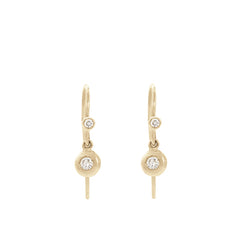 blanca monrós gómez | double diamond flat seed drop earrings