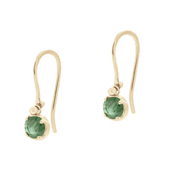 emerald aurelie earrings
