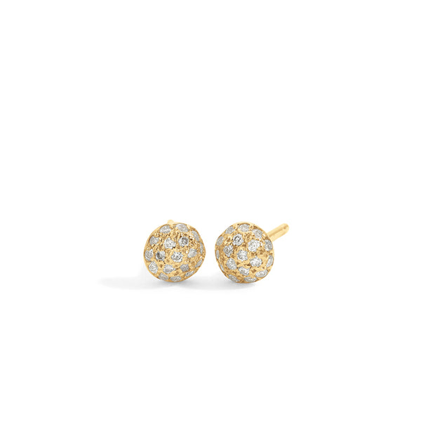 blanca monrós gómez | white diamond dot earrings