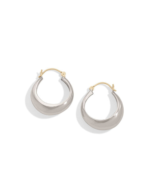 sterling silver dome hoops