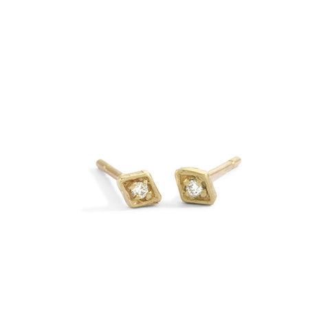 tiny diamond filigree studs