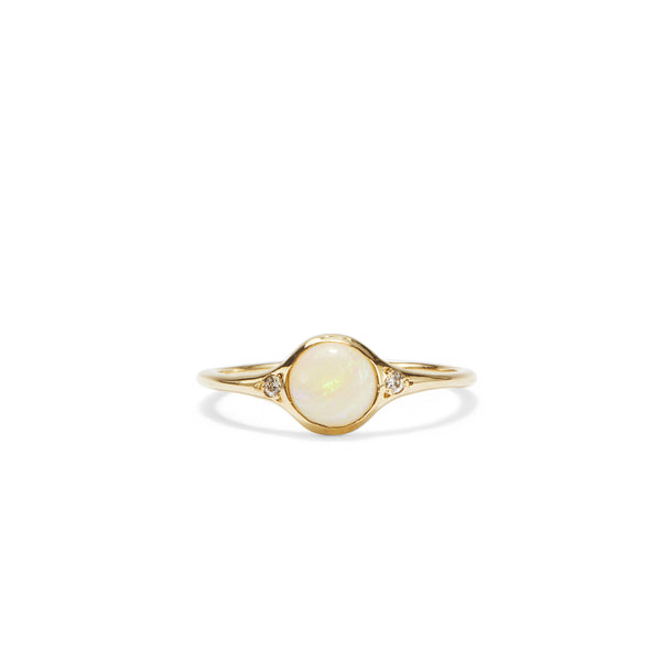 translucent florence opal solitaire size 7