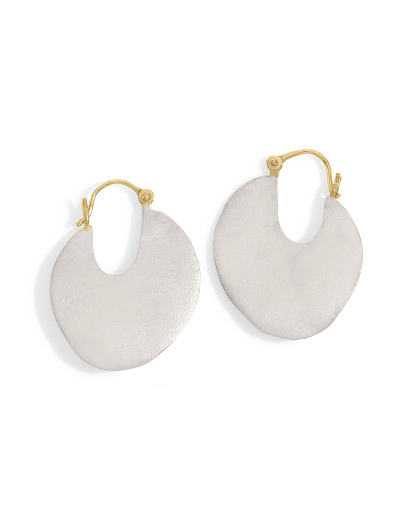 large disc hoop earrings